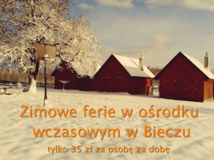 Zimowe ferie w domkach w Bieczu